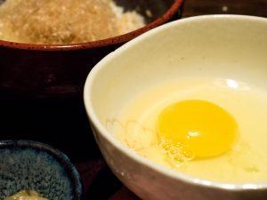 和食と豚みそ丼ちんばたのこだわり 地場食材 卵